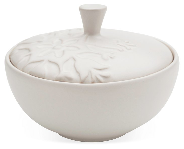 Harmonie Sugar Bowl, White