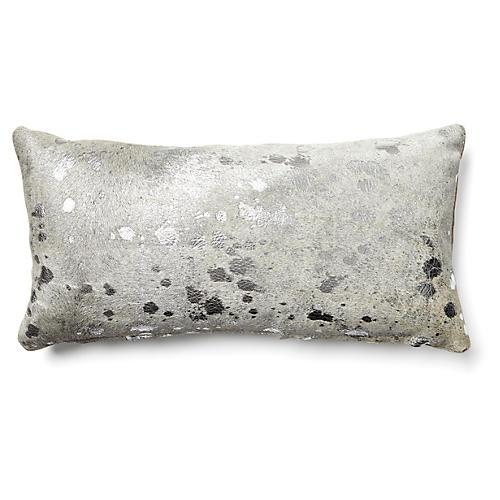 Splash 10x20 Lumbar Pillow, Silver