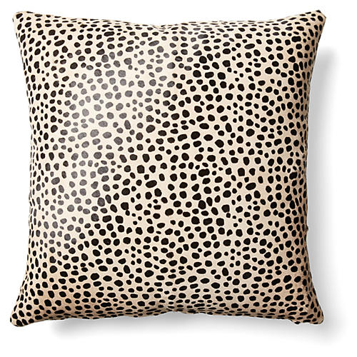 Cheetah Pillow, Beige