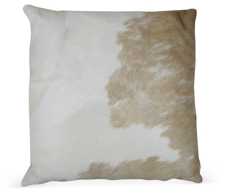 Palomino 20x20 Hide Pillow, Beige