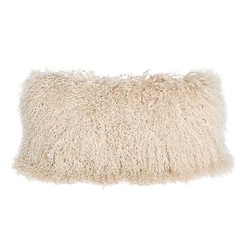 Tibetan Lumbar Pillow, Beige