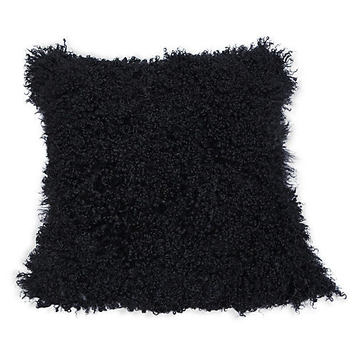 Tibetan 24x24 Pillow, Black