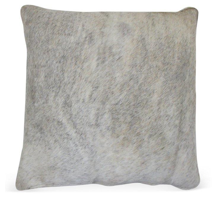 Brazilian 20x20 Hide Pillow, Gray