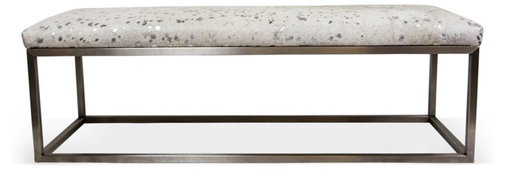 Christine Bench, White/Silver