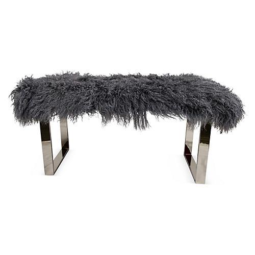 Curly Bebe Bench, Silver/Gray