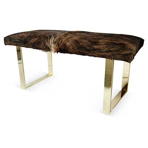 Bebe Bench, Brass/Dark Brindle
