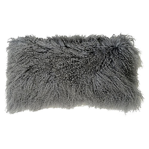 Tibetan Lumbar Pillow, Gray