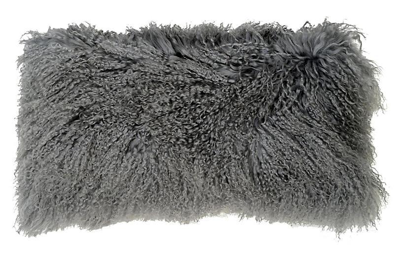 Tibetan Lumbar Pillow, Gray