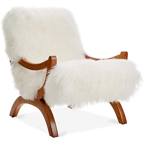 JJ Accent Chair, White