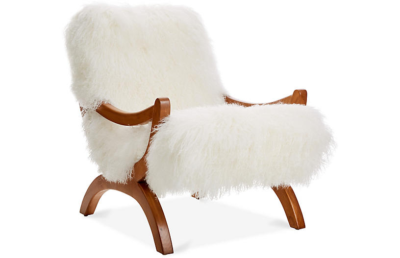 JJ Accent Chair - White - Le-Coterie