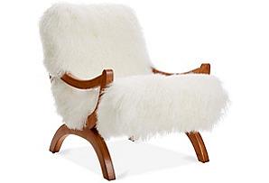 JJ Accent Chair, Ivory Fleece*