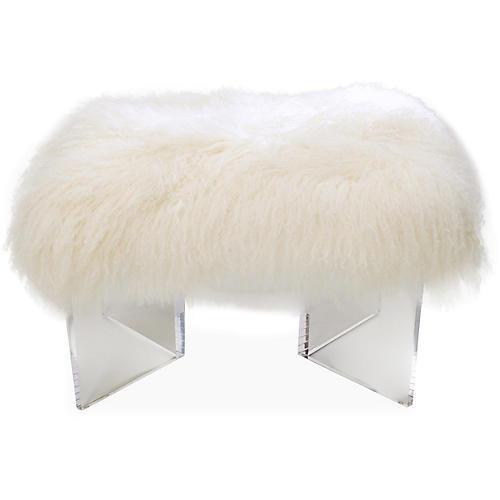 Curly V-Bench, White
