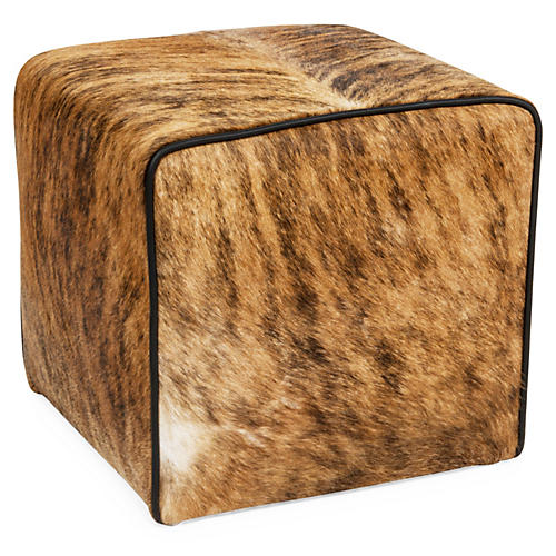 Waterfall Pouf, Brown