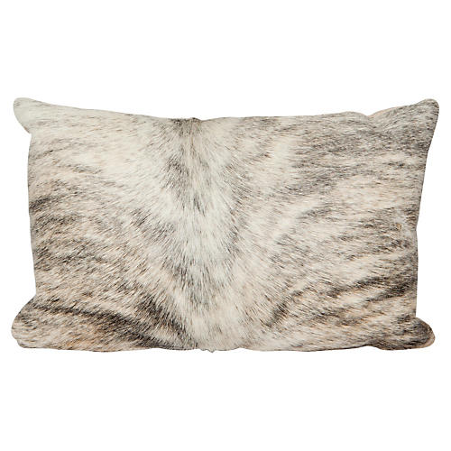 Light Brindle Lumbar Pillow, Beige