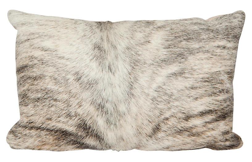 Light Brindle Lumbar Pillow, Beige