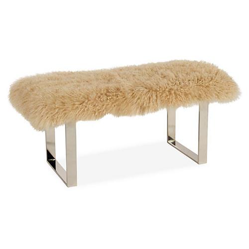 Curly BeBe Bench, Beige