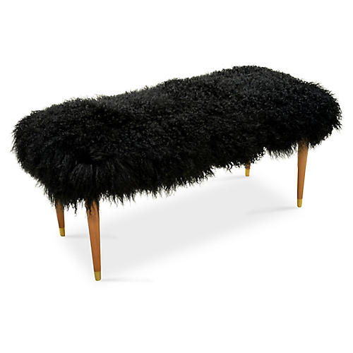 Curly Abby Bench, Black