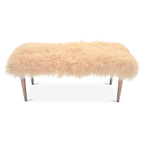 Curly Adolfo Bench, Beige