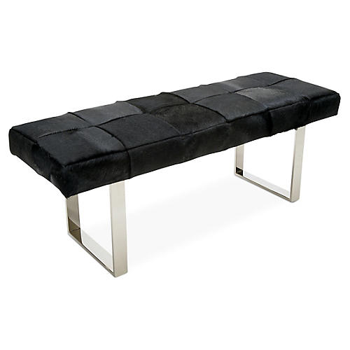 Dena Bench, Silver/Black