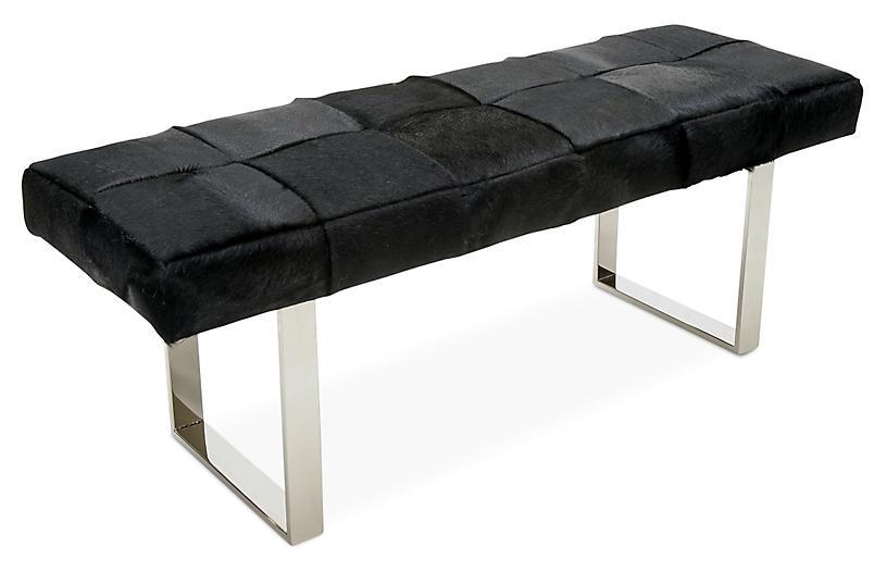 Dena Bench, Silver/Black