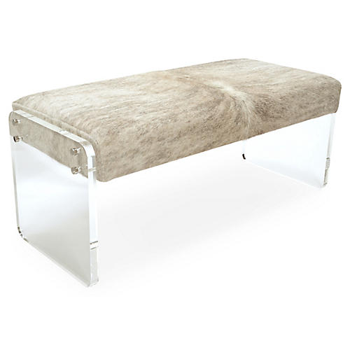 Samantha Bench, Beige/Gray