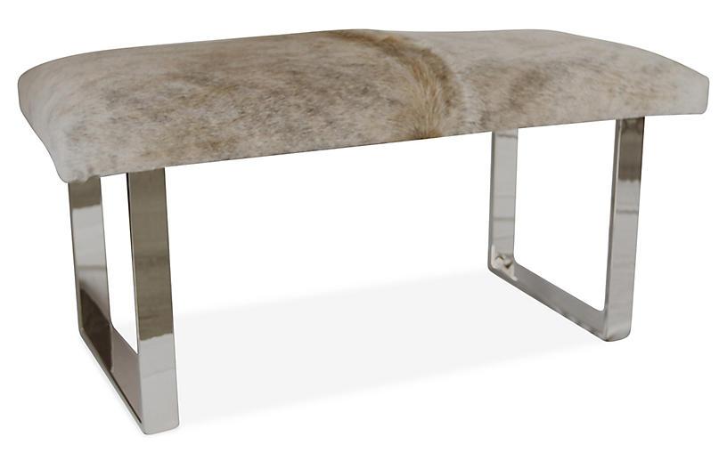 BeBe Skinny Bench, Beige/Gray