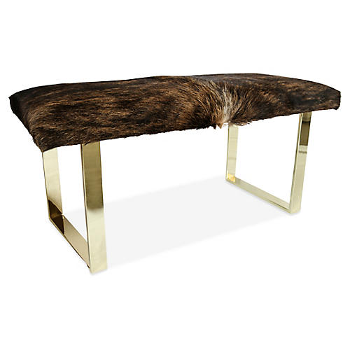 BeBe Skinny Bench, Dark Brindle/Brass