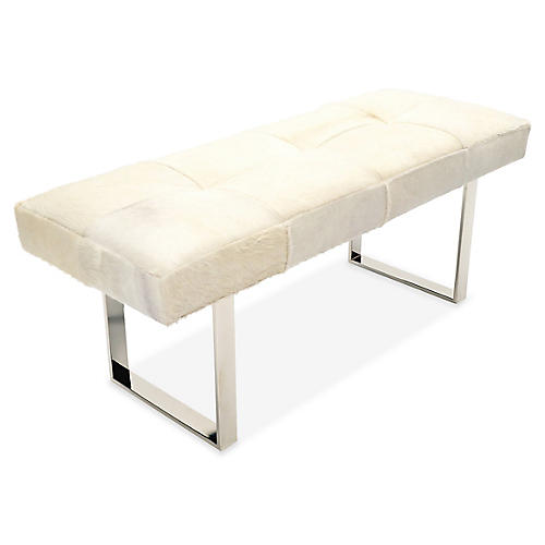 Skinny Dena Bench, Off-White