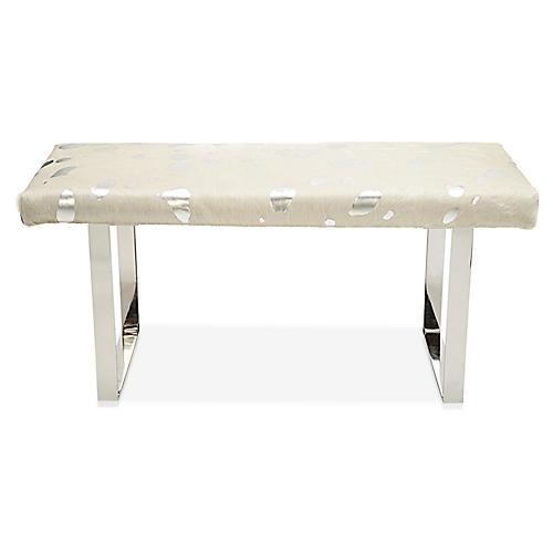 BeBe Bench, Silver/Off-White