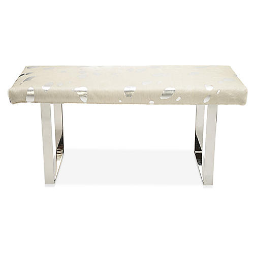 BeBe Bench, Silver/Off-White