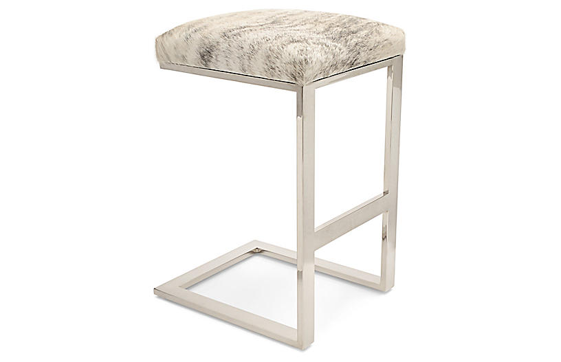 Hot Toddy Counter Stool, Beige/Gray