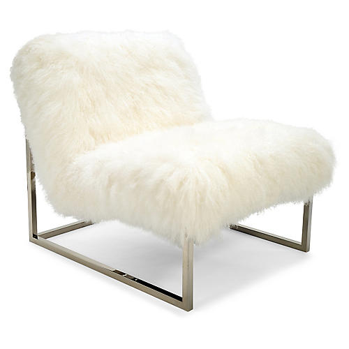 Milly Chair Accent Chair, White