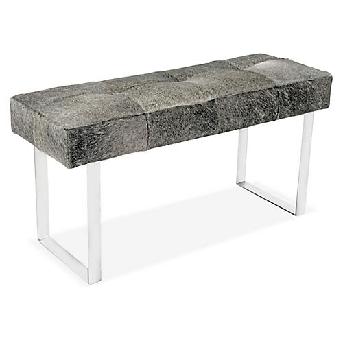 Skinny Dena Bench, Smokey Gray