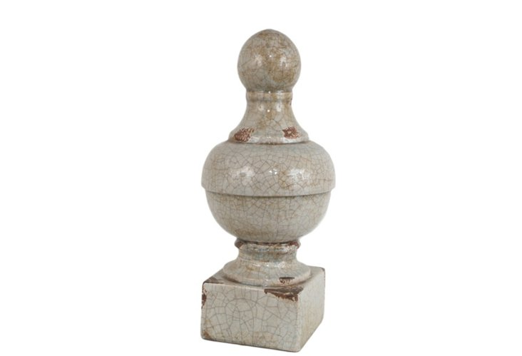 "18"" Cracked Orb Finial"