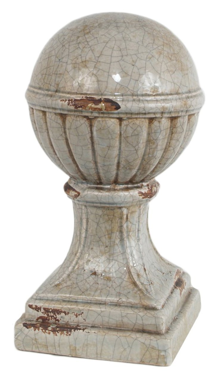 "15"" Cracked Globe Finial"