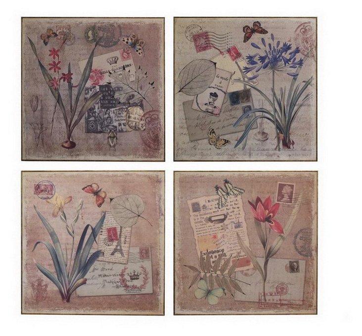 Floral Wall Prints Set