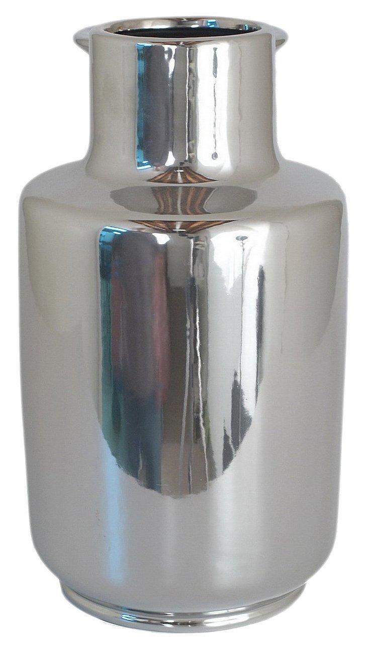 "14"" Plated Vase w/ Lip"