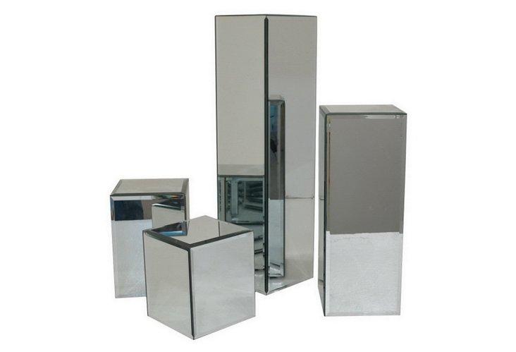 Beveled Mirrored Pillars, Asst. of 4