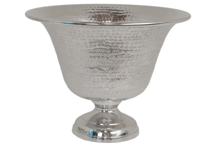 "12"" Hammered Footed Bowl"