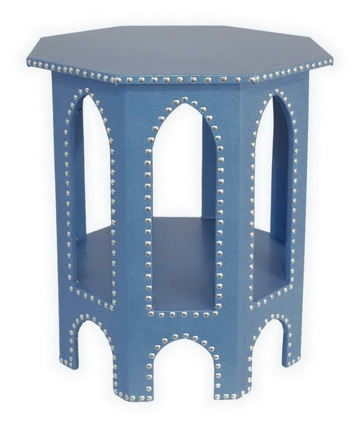 Studded Moroccan Table, Blue