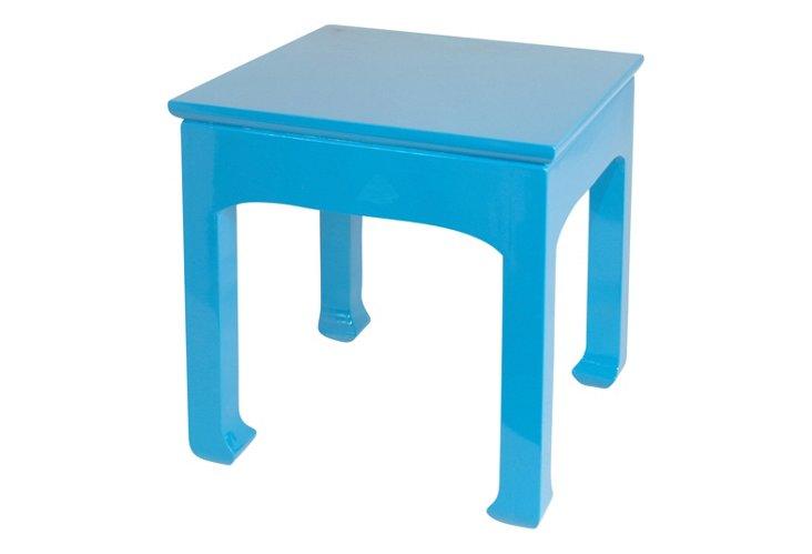 Jasper Side Table, Blue