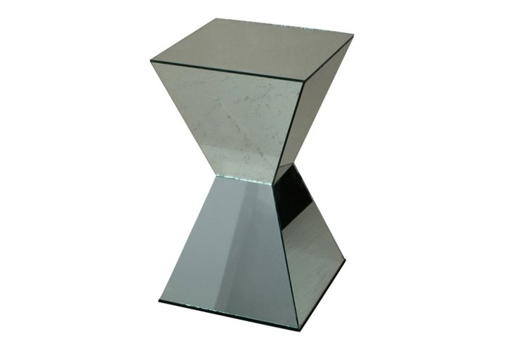 Square Mirrored Stool