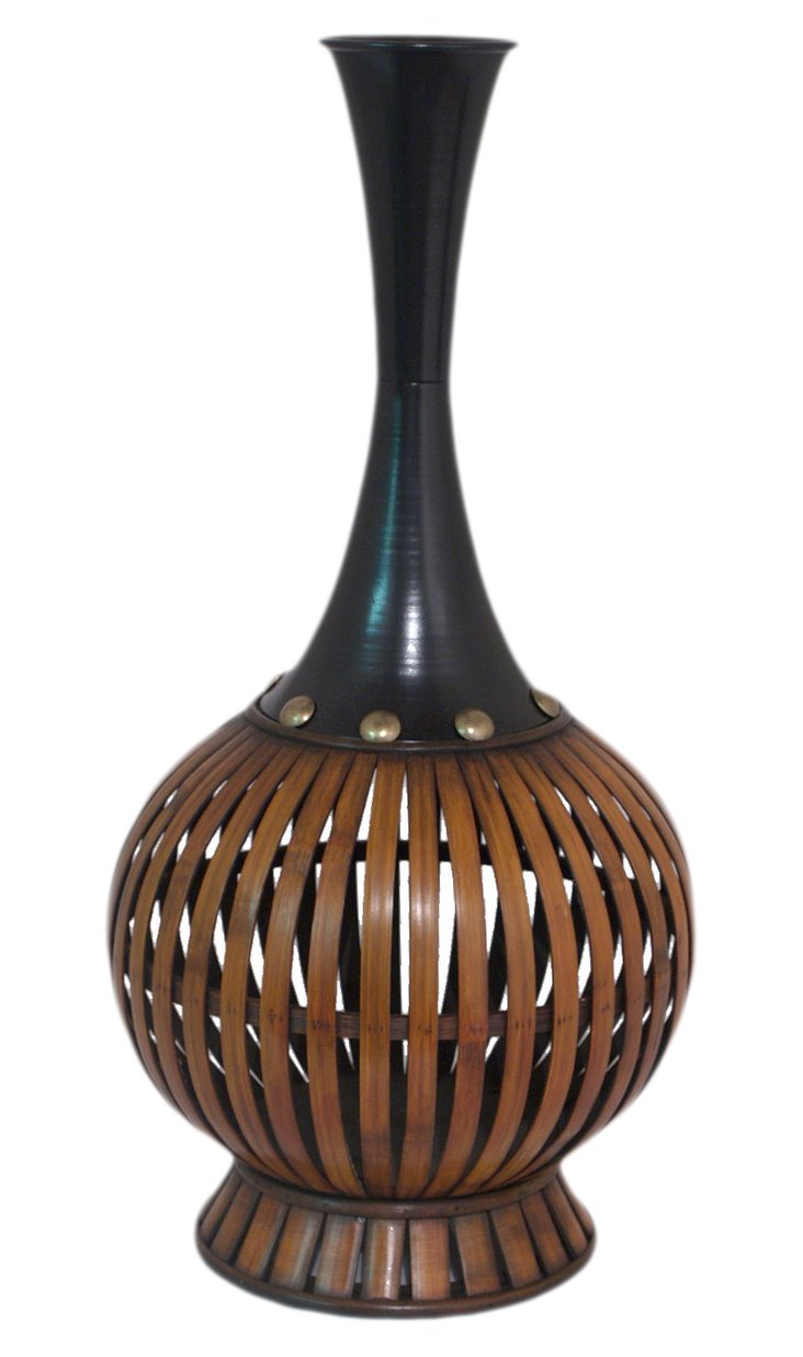 """22"""" Rounded Bamboo Vase"""