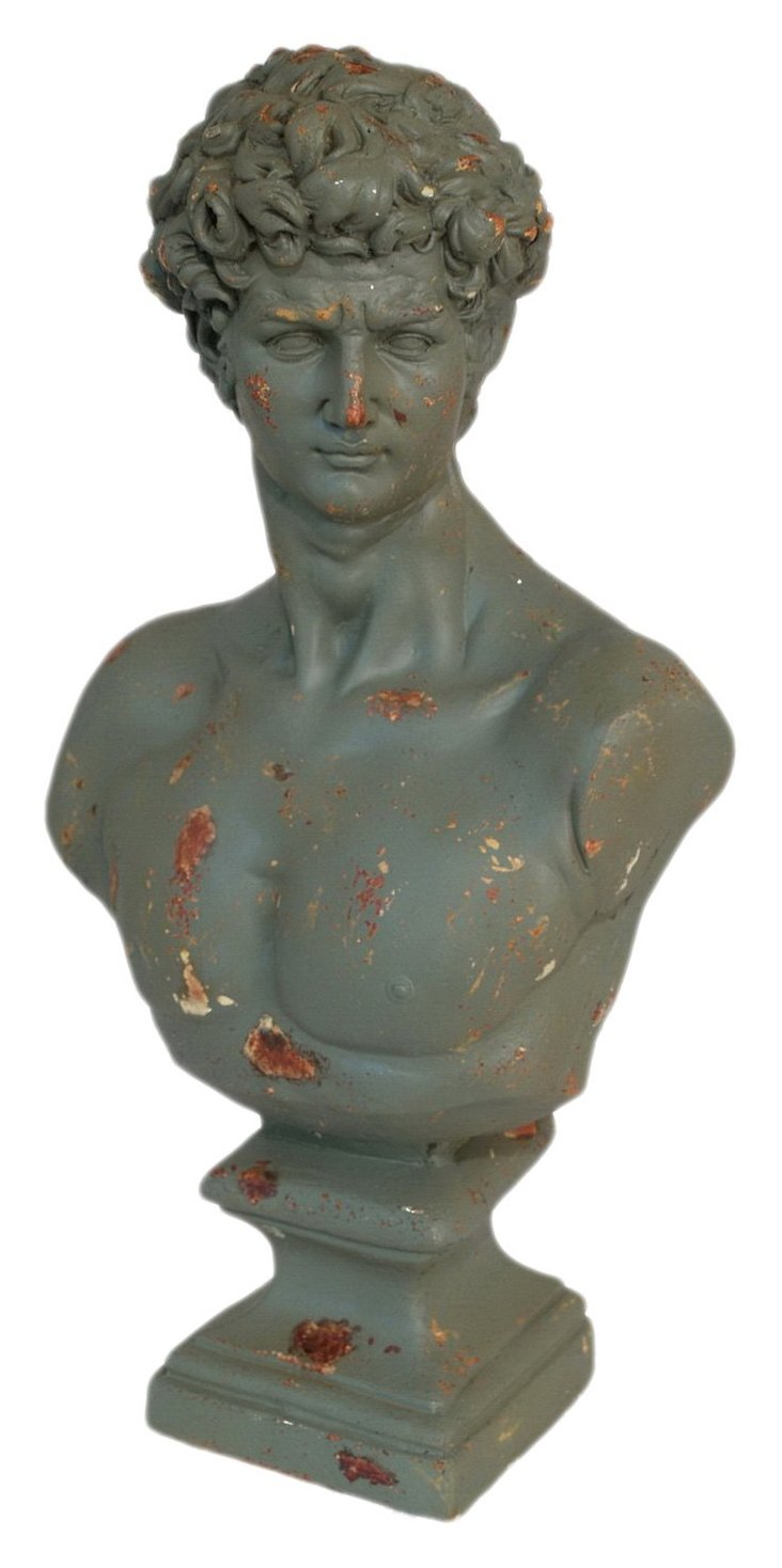 "24"" Male Bust, Gray"