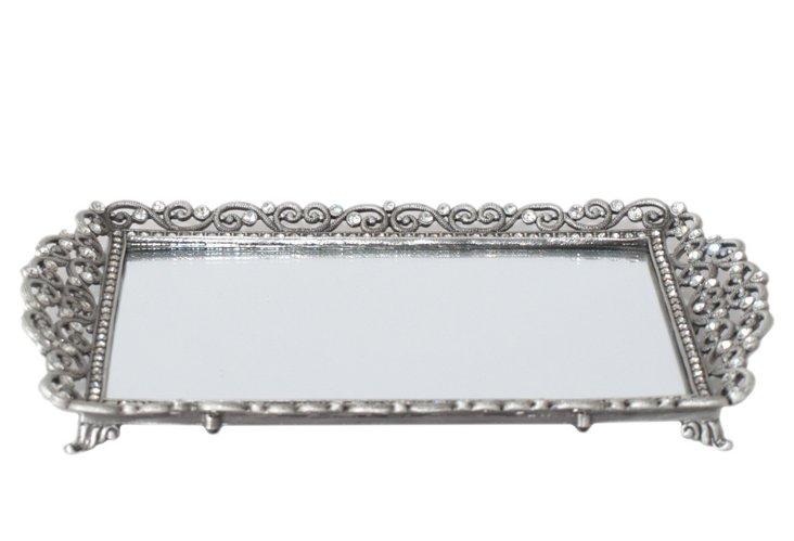 Embellished Mirror Tray
