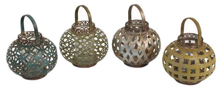 4 Assorted Round Lanterns