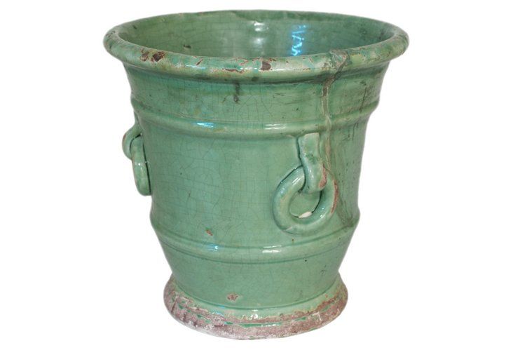 "14"" Ceramic Planter w/ Rings"