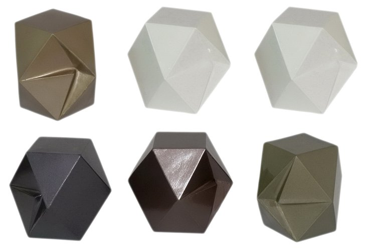 6 Assorted Geocube Paperweights