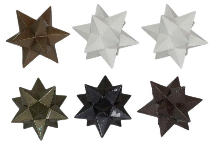 6 Assorted Star Orbs