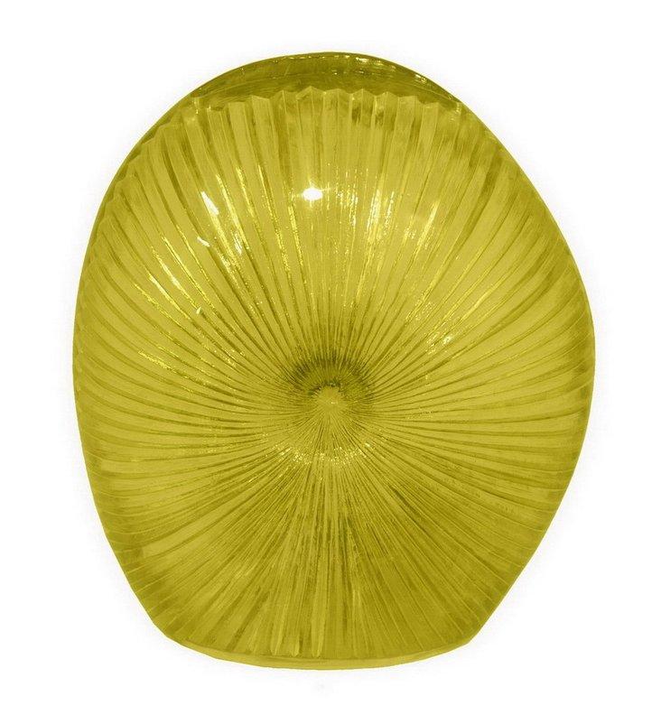 Resin Shell Vase, Green